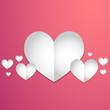 valentine's day paper hearts concept
