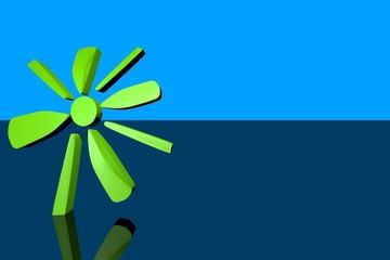 3d Blumenzeichen