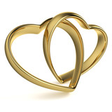 Heart-Shaped Wedding Rings - 49065841