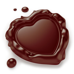 Heart-Shaped Chocolate Seal