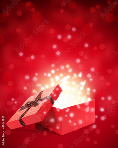 open gift box with light insideout
