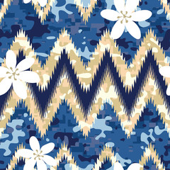 Hawaiian Camouflage Shirt Seamless Background Pattern