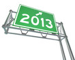 New Year 2013 on Freeway Sign - Isolated