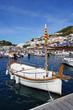 Catalan boat at dock in the Mediterranean sea