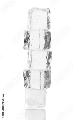 Ice isolated on white