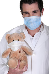 Medical mask and teddy