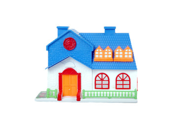 blue toy house