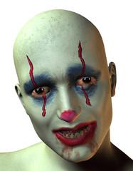 Portrait von einem unheimlichen Clown