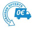 livraison offerte sur symbole validé bleu