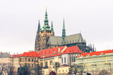 Prague Castle and St. Vitus Cathedral distant view