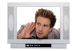 Man in a television screen