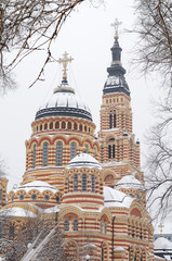 Blagoveshensky cathedral in Kharkov, Ukraine