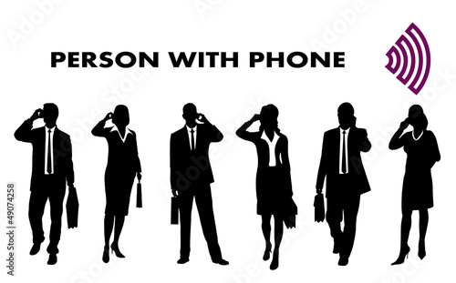 person with the mobile phone