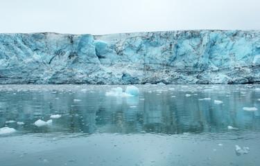 Glacier in Istfjorden, Spitsbergen (Svalbard), Greenland Sea