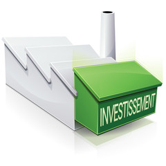 Investissement dans une usine (reflet)