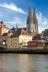 Blick auf die Regensburger Altstadt