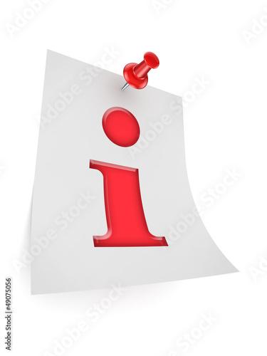 Info symbol icon.