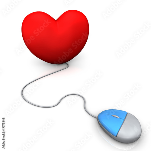 Heart PC Mouse