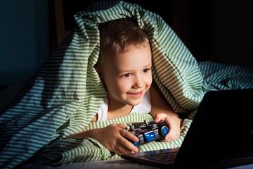 Computer games at night