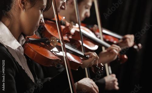 violinists at concert