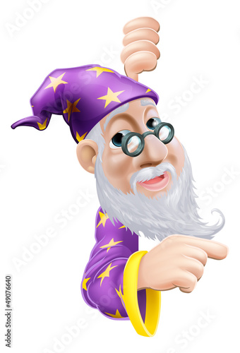 Friendly Wizard Pointing
