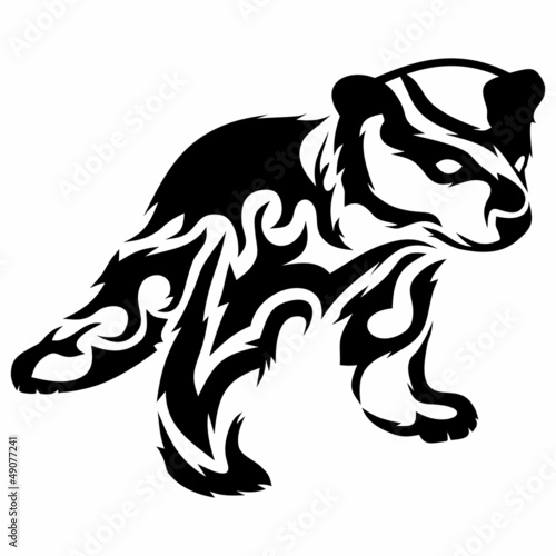 Tribal bear cub / vector tattoo