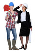 duo of women in men's jobs