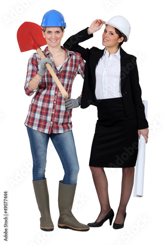 duo of women in men's jobs