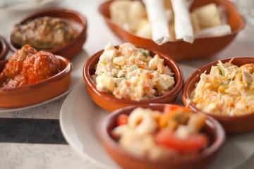 tapas Hiszpania przekąski małe danie przysmak jedzenie kuchnia