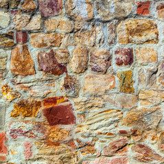 old medieval stone wall