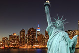 Fototapety Manhattan Skyline and The Statue of Liberty