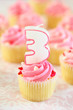 Birthday Cupcake - Three