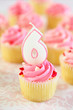 Birthday Cupcake - Six
