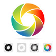 Colorful camera shutter logo ,Illustration eps10