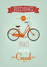 Vintage Retro Fahrrad Hintergrund