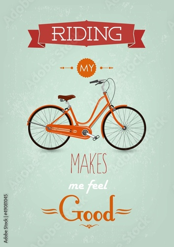 Vintage Retro Bicycle Background © melindula