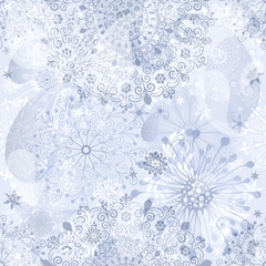Christmas silvery seamless pattern
