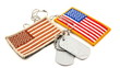 Vividly colorful and camouflage American Flag, Dog Tags