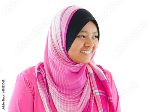 Portrait of Southeast Asian Muslim girl
