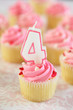 Birthday Cupcake - Four