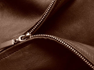 sepia toned zipper fragment