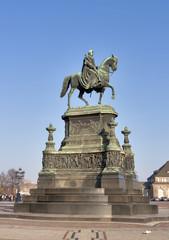 Statue of King Johann (1801-1873) in Dresden, Germany.