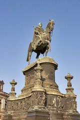 Statue of King Johann (1801-1873) in Dresden, Germany.