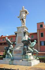 Italy, Livorno bronze Four Mori famous monument