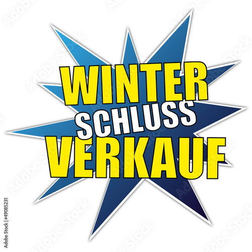 WSV - Winterschlussverkauf - Rabatt Button / Sticker