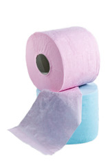 Rolls of a toilet paper
