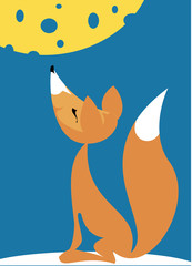 Fable of the fox and the cheese