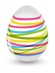 Easter striped egg