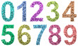 Numbers Set - each numbers consists of respective small numbers
