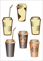 paper cup with coffee